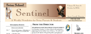 The Seton School Sentinel Newsletter