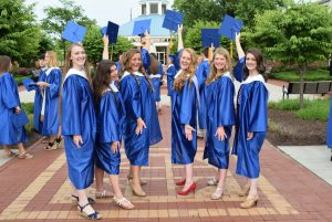Graduation of Seton Students from Catholic High School in Northern Virginia