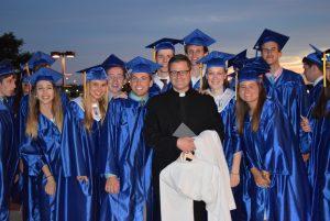 Graduating Class of Seton Private Catholic High School in Manassas Virginia