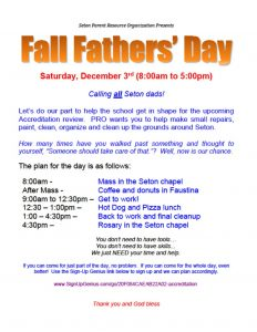 Fall Father Day at Seton