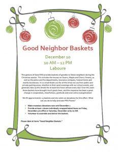 Good Neighbor Basket Flyer Image