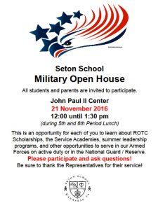 Seton Military Open House