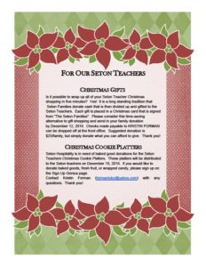 Teacher Christmas Flyer Image