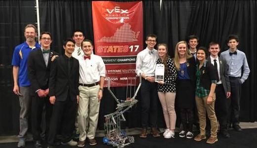 VEX Tournament State Champs!
