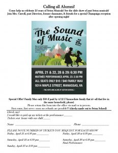 Sound of Music Order Form
