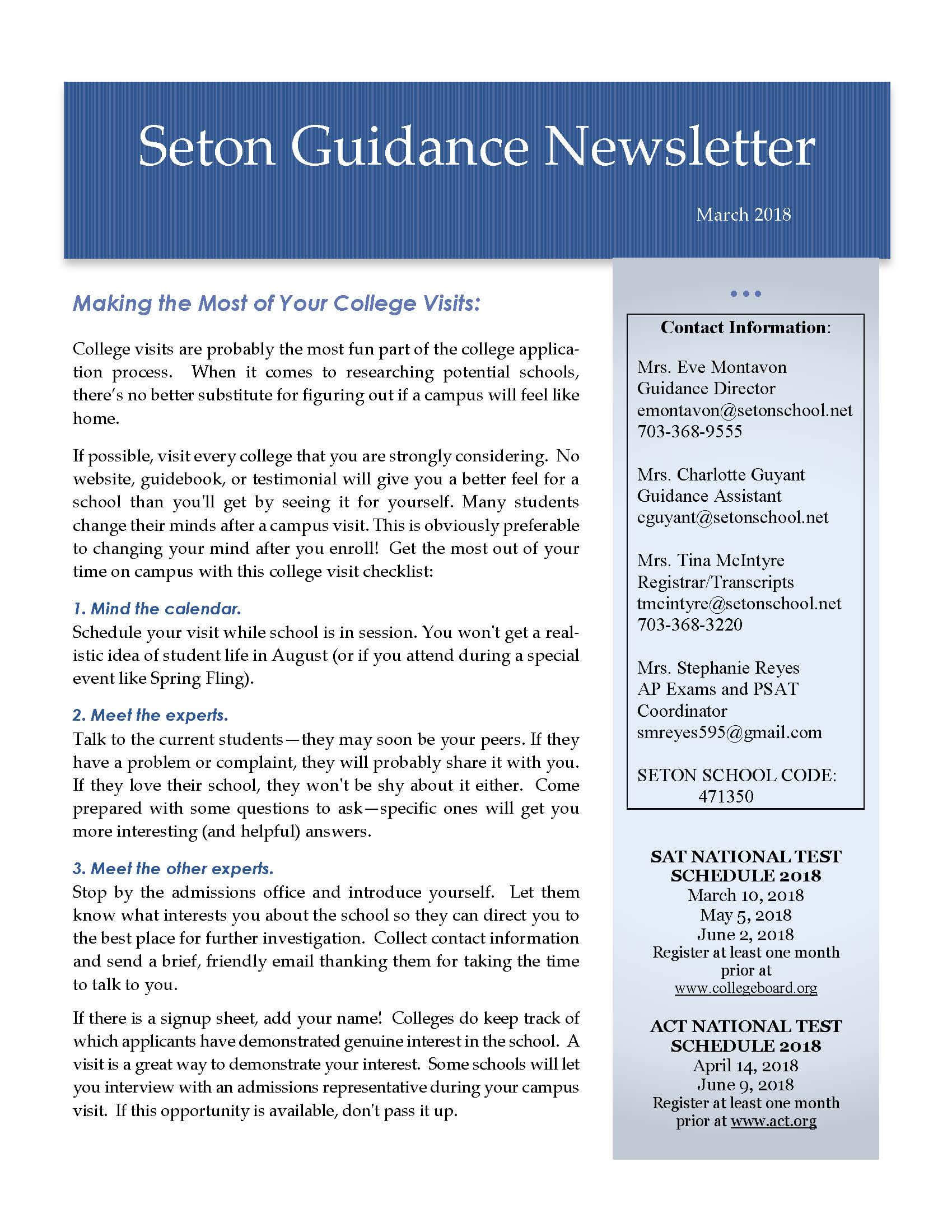 May 2017 Guidance Newsletter