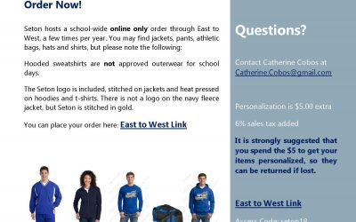 Seton Fall Apparel Order