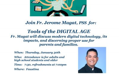 Technology and Social Media Talk with Fr Magat tonight at 7PM