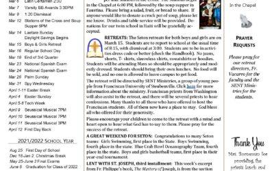 Seton School Sentinel – March 4, 2021